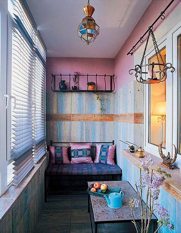 Дизайн балкона внутри всех комнат
