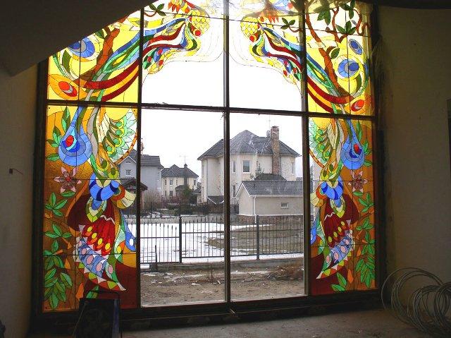 Витражи на стекле и витражные техники