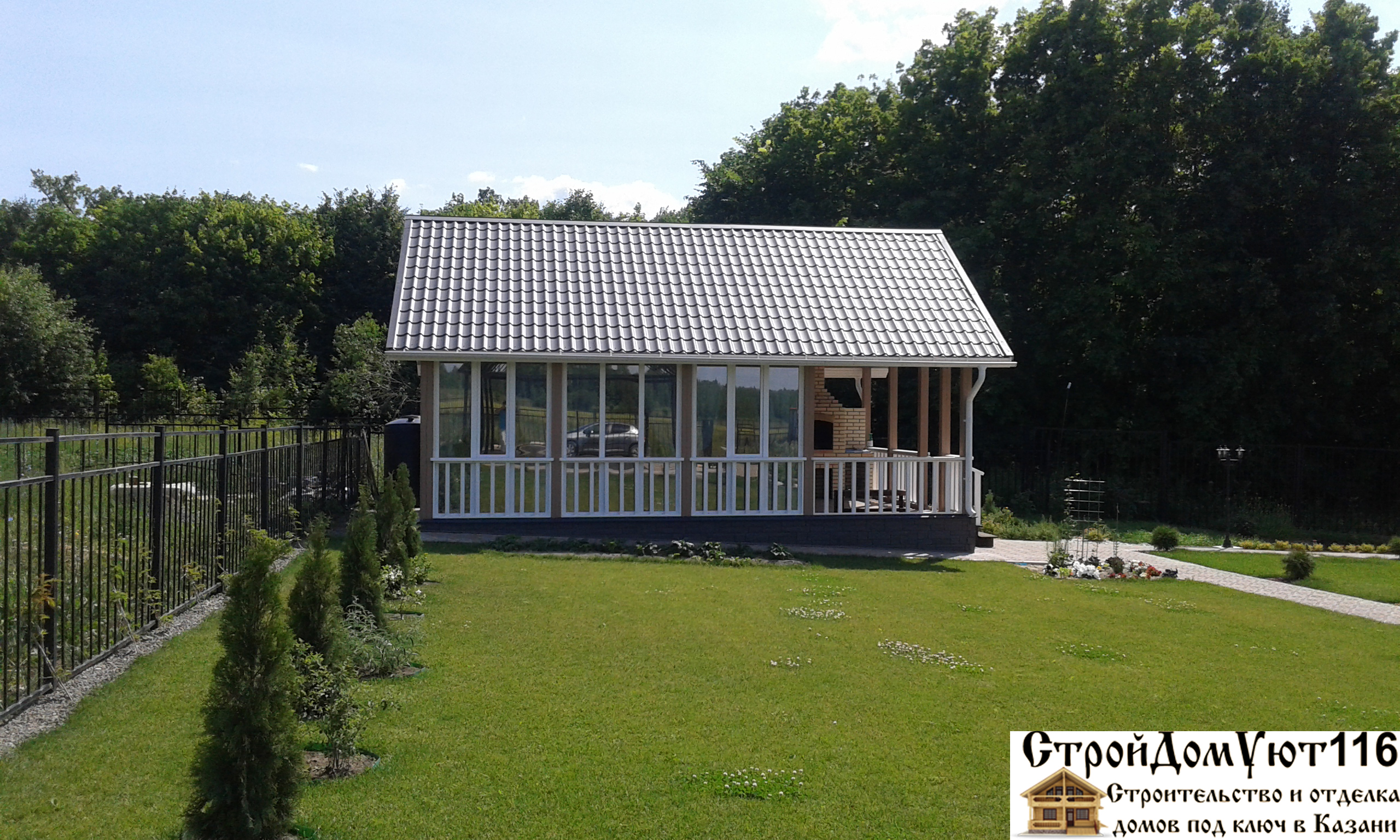 покрыть крышу дома зимой
