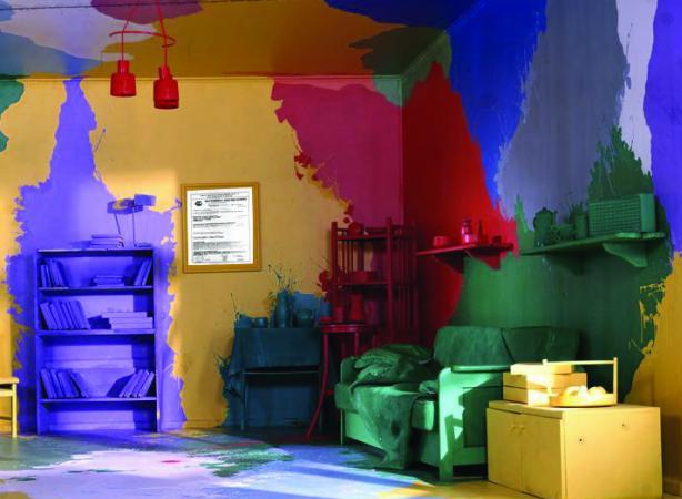 Покраска стен водоэмульсионной краской: фото,идеи