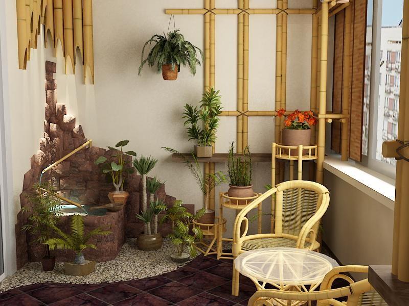 Идеи дизайна балкона с фото стройдомуют116.